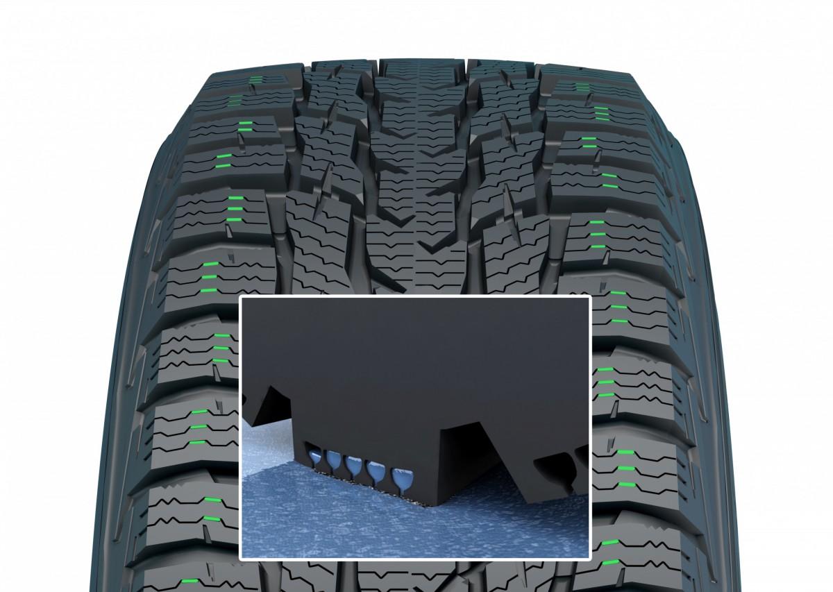 Протектор зимней шины 205/55 R16