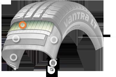 Структура Hankook Vantra LT RA18