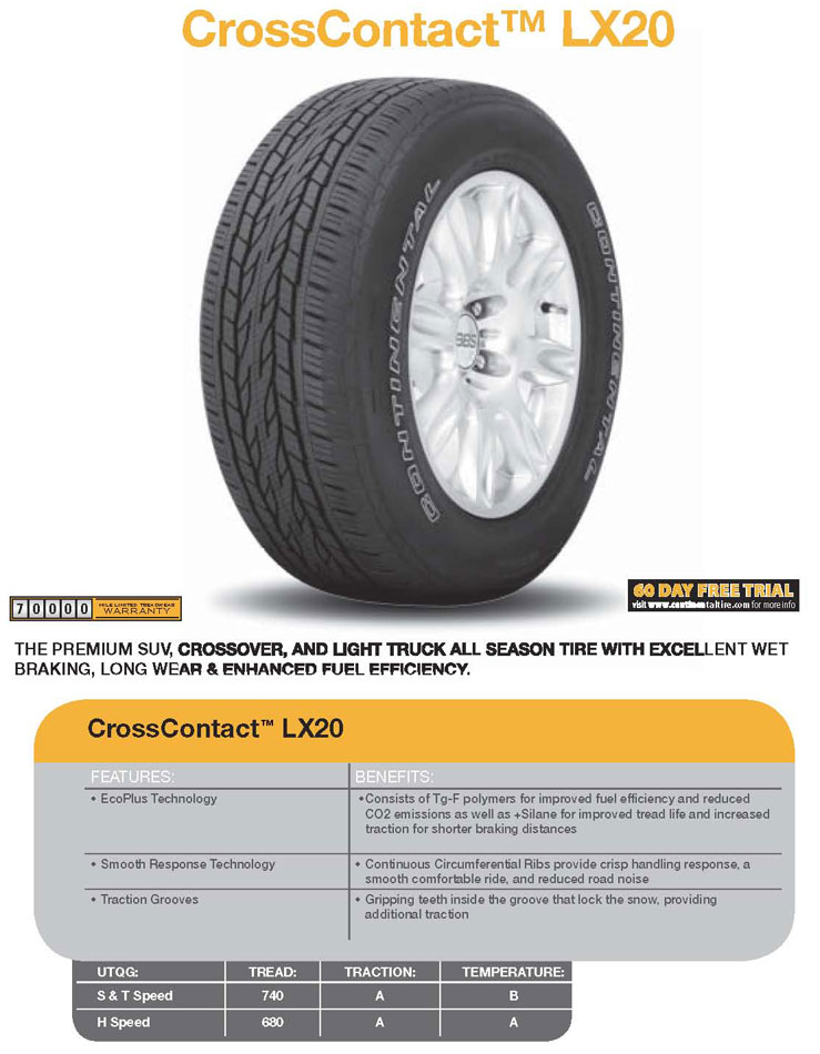 Резина Continental ContiCrossContact LX20