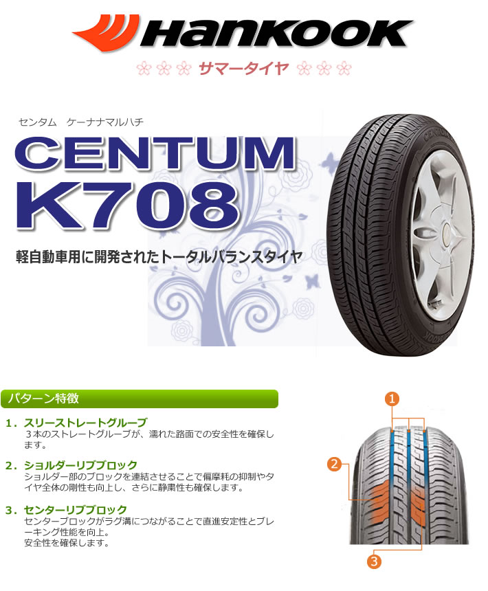 Резина Hankook Centum K708