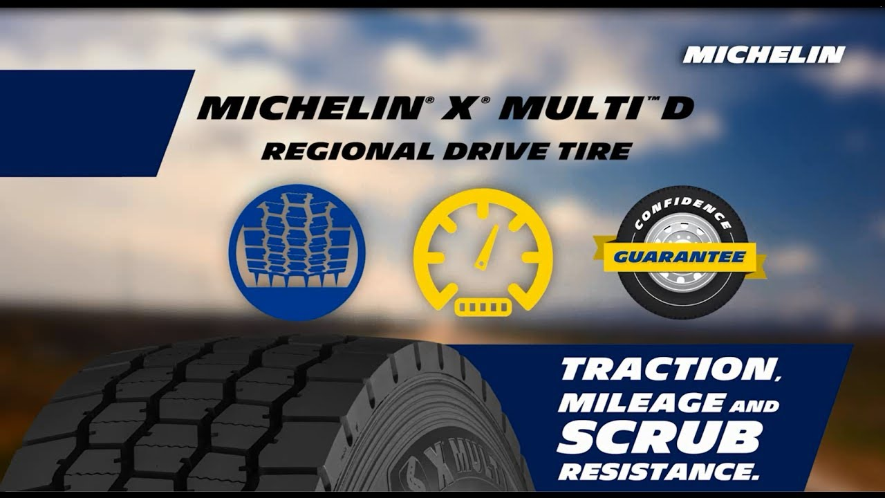 Резина Michelin X Multi D (ведущая ось)
